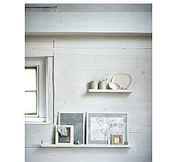 МОССЛЭНДА Полка для картин, белый, 90292103, ИКЕА, IKEA, MOSSLANDA , фото 3
