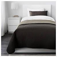 КАРИТ Покрывало и чехол на подушку, коричневый, 10290259 ИКЕА, IKEA, KARIT