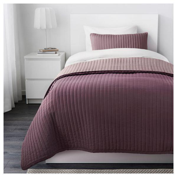 КАРИТ Покрывало и чехол на подушку, сиреневый, 90290260, ИКЕА, IKEA, KARIT