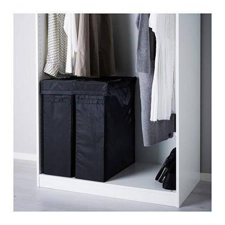 СКУББ Мешок для белья на опоре, черный, 30224046, ИКЕА, IKEA, SKUBB, фото 2