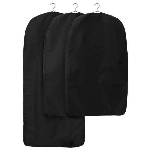 СКУББ Чехол для одежды, 3 штуки, черный,  80193373, ИКЕА, IKEA, SKUBB