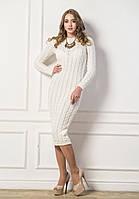 Платье женское вязаное (Мелкая коса)