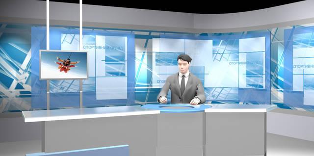 Дизайн телевизионных декораций. Дизайн ТВ студий.  15
