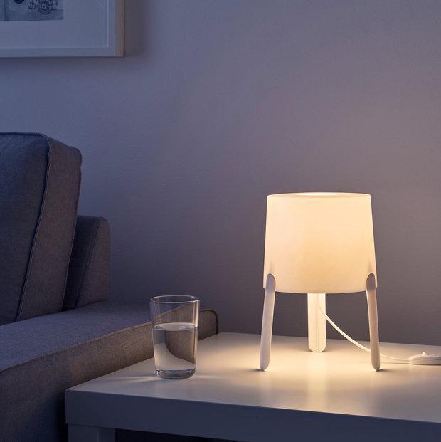 TVÄRS Лампа настольная, белый, 20356136, ИКЕА, IKEA