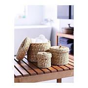 ЛЬЮСНАН Набор шкатулок, 3 штуки, водоросли, 70013462, ИКЕА, IKEA LJUSNAN