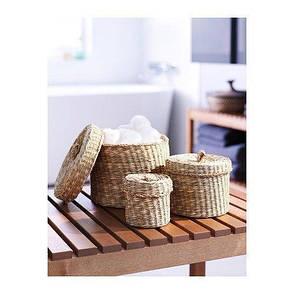 ЛЬЮСНАН Набор шкатулок, 3 штуки, водоросли, 60413620, ИКЕА, IKEA LJUSNAN   , фото 2