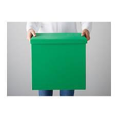 ТЬЕНА Коробка с крышкой, зеленый, 80291991, ИКЕА, IKEA, TJENA , фото 2