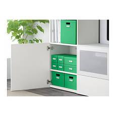 ТЬЕНА Коробка с крышкой, зеленый, 80291991, ИКЕА, IKEA, TJENA , фото 3
