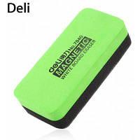 Deli 7840 Магнитный ластик для доски офисные принадлежности Зелёный