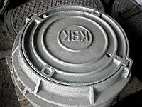 Люк канализационного колодца серии Л (с замком), комплект