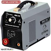 Сварочный инвертор СТАЛЬ ММА-245, 220 В, сварочный ток 20-245 А, электроды 1,6-5,0 мм, вес 6,5 кг (55935)