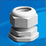 Кабельный зажим с контргайкой, IP 68, полиамид 6.6, цвет серый