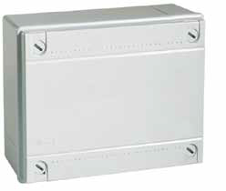 Коробки ответвительные с гладкими стенками, IP56, АБС-пластик, цвет серый