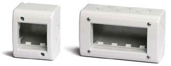 Модульные настенные коробки для электроустановочных изделий «ДКС» серии «Viva», IP40, цвет серый