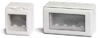 Модульные настенные коробки для электроустановочных изделий «ДКС» серии «Viva», IP55, цвет серый