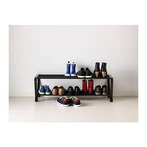 ПОРТИС Полка для обуви, черный, 80099790, IKEA, ИКЕА, PORTIS, фото 2
