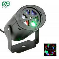 YWXLight не Водонепроницаемые светодиодные проекции света Снежинка Рождественская света AC 85-265В Европейская вилка