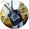 Женский рюкзак-сумка черный с USB выходом, фото 3