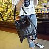 Женский рюкзак-сумка черный с USB выходом, фото 4