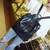 Женский рюкзак-сумка черный с USB выходом, фото 5