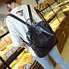 Женский рюкзак-сумка черный с USB выходом, фото 2