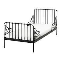 МИННЕН Каркас раздвижной кровати,черный  80x200 см, 39124622, IKEA, ИКЕА, MINNEN