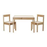 ЛАТТ Детский стол, 2 стула, белый, сосна, 50178411, IKEA, ИКЕА, LATT