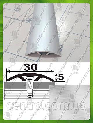 Порожек для пола скрытого монтажа АП 016 Без покрытия. Ширина 40 мм. Длина 2,7м.