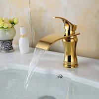 LINGHAO HL-265 Современный позолоченный смеситель для ванной комнаты Золотой