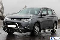 Кенгурятник с нержавеющей стали на Mitsubishi Outlander 2013-2015+ гг.