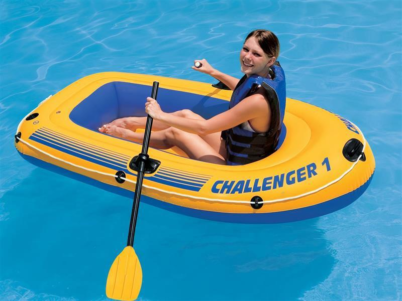 ОДНОМІСНИЙ ЧОВЕН НАДУВНИЙ INTEX CHALLENGER-1 (68365) Човен