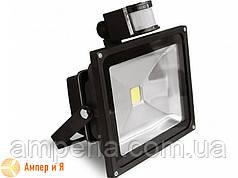 Прожектор світлодіодний з датчиком руху EUROELECTRIC LED COB 20W 6500K