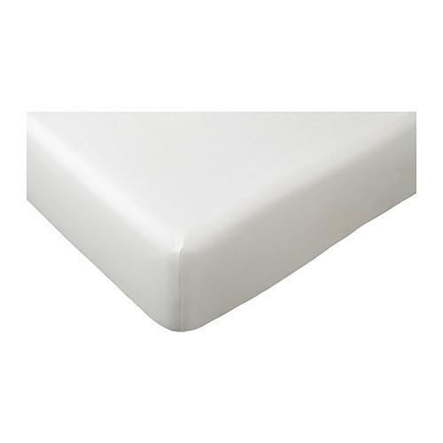 ДВАЛА Простыня натяжная, белый 180x200, 50356564, IKEA, ИКЕA, DVALA
