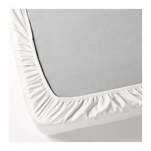 ДВАЛА Простыня натяжная, белый 180x200, 50356564, IKEA, ИКЕA, DVALA, фото 2