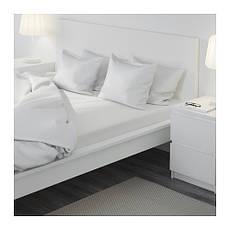 ДВАЛА Простыня натяжная, белый 180x200, 50356564, IKEA, ИКЕA, DVALA, фото 3