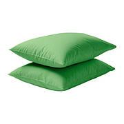 ДВАЛА Наволочка на подушку, зеленый, 60296485, IKEA, ИКЕА, DVALA