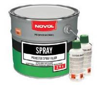 NOVOL SPRAY 0,8л - Шпатлевка для нанесения способом распыления Новол Спрей