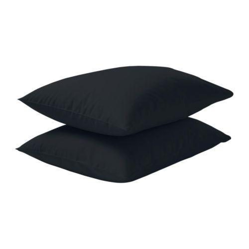 ДВАЛА Наволочка, черный, 40357187, IKEA, ИКЕА, DVALA