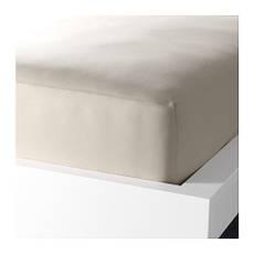 ДВАЛА Простыня натяжная, бежевый, 160х200см, 40150040, IKEA, ИКЕА, DVALA, фото 2