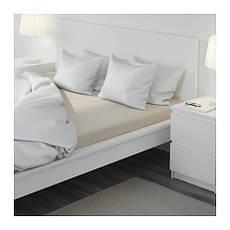 ДВАЛА Простыня натяжная, бежевый, 160х200см, 40150040, IKEA, ИКЕА, DVALA, фото 3