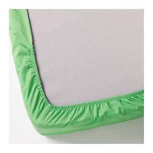 ДВАЛА Простыня натяжная, зеленый, 160х200, 40296472, IKEA, ИКЕА, DVALA, фото 2