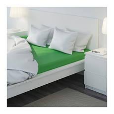 ДВАЛА Простыня натяжная, зеленый, 160х200, 40296472, IKEA, ИКЕА, DVALA, фото 3