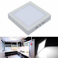 Cветодиодные панели 18W светодиодное потолочное освещение AC 85-265В квадратный светодиодный светильник Холодный белый свет