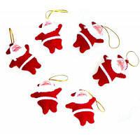 Рождественские украшения Санта-Клаус 6шт красный и белый