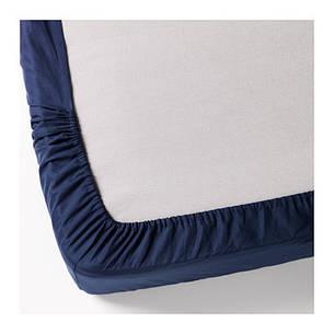 ДВАЛА Простыня натяжная, темно-синий, 140х200, 30149995, ИКЕА, IKEA, DVALA, фото 2