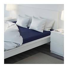 ДВАЛА Простыня натяжная, темно-синий, 140х200, 30149995, ИКЕА, IKEA, DVALA, фото 3