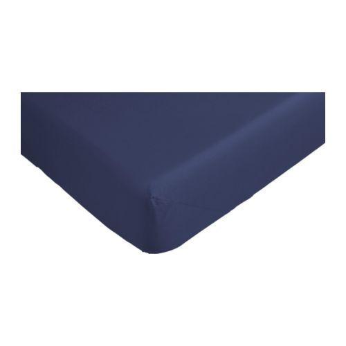 ДВАЛА Простыня натяжная, темно-синий, 90x200 см, 70149998, IKEA, ИКЕА, DVALA