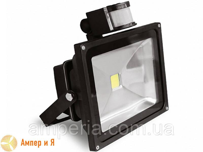 Прожектор світлодіодний з датчиком руху EUROELECTRIC LED COB 30W 6500K