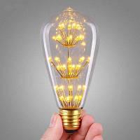 SUPli 1шт. старинные Эдисон лампы AC 220V-240V 3W лампа с формой беличьей клетки в ярком звездном стиле для домашних осветительных приборов