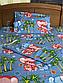 Полуторный комплект постельного белья 150х220 из бязи Влюбленные слоны, фото 2
